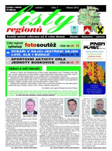 Listy regionů březen 2012