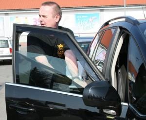 Měření propustnosti - řidič na místě strhhl nepropustné  fólie