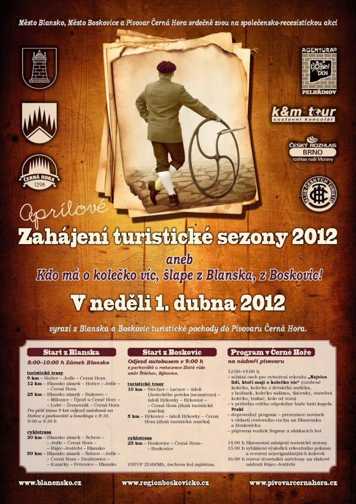 Plakátek Zahájení turistické sezony 2012