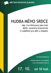 Plakát + pozvánka - Hudba mého srdce - Eva Nečasová