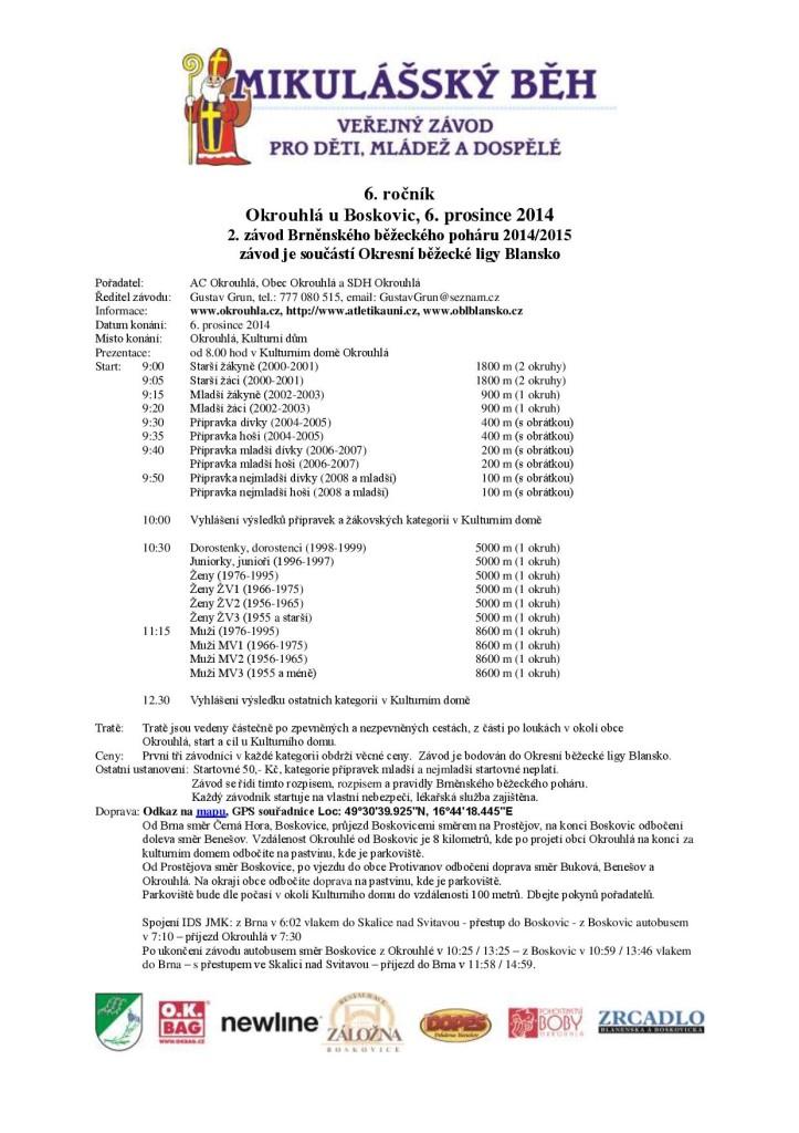 Mikulášský běh Okrouhlá 2014_propozice-page-001