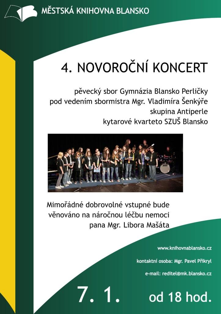 Plakát + pozvánka - Novoroční koncert