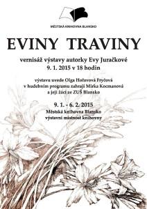 Plakát + pozvánka - výstava EVY JURAČKOVÉ, 9.1.2015-page-001