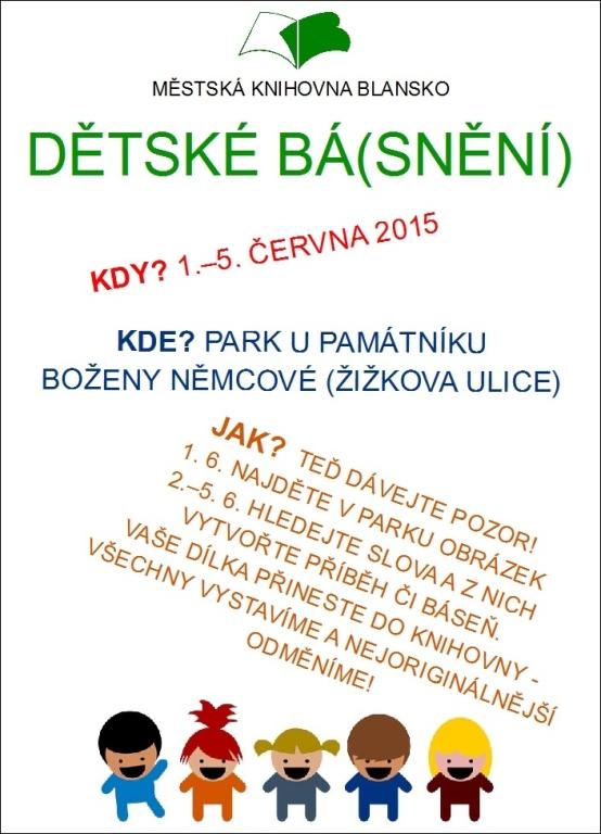 Plakát + pozvánka - Básnění pro děti 2015