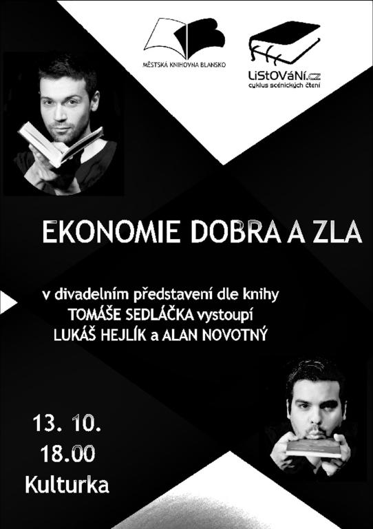 Plakát + pozvánka - L. HEJLÍK - Listování, 13.10.2015