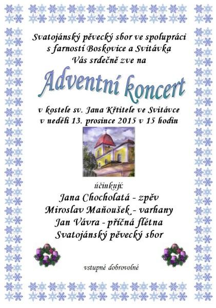 adventni koncert svitavka