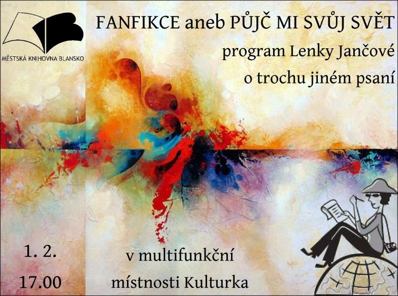 Plakát + pozvánka - FANFIKCE L. Jančové, 1.2.2016