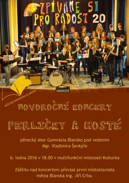 Plakát + pozvánka - Novoroční koncert PERLIČEK 2016, 6.1.2016