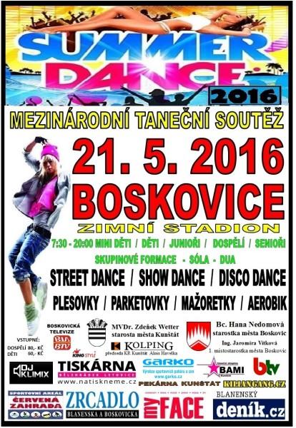 kalendář_SUMMER DANCE CUP BOSKOVICE 2016