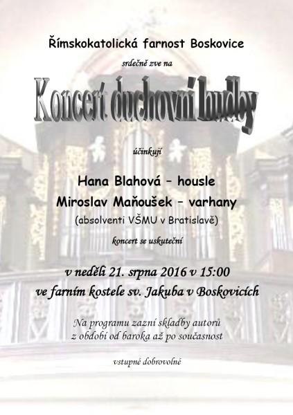 koncert duchovni hudby
